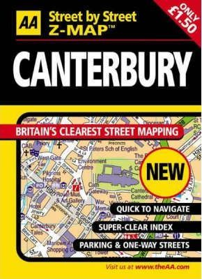 AA Street by Street Z-Map Canterbury