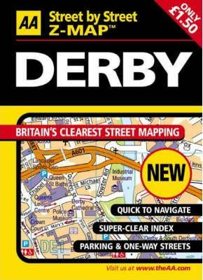 AA Street by Street Z-Map Derby