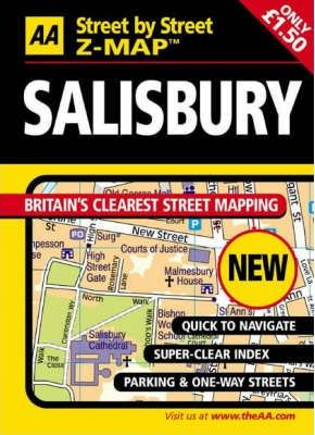 AA Street by Street Z-Map Salisbury