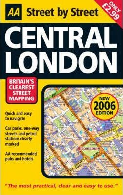 AA Street by Street Central London Map 2006