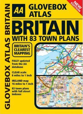 AA Glovebox Atlas Britain with Town Plans