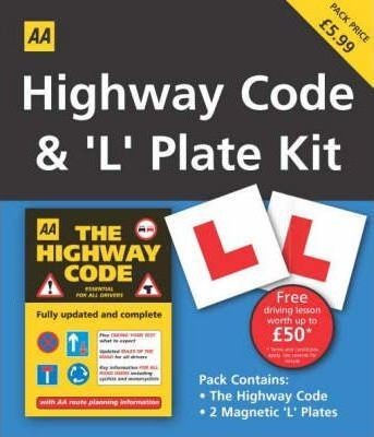 Highway Code and L Plate Pack