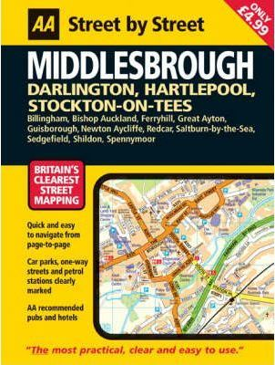 AA Street by Street Middlesbrough: Midi