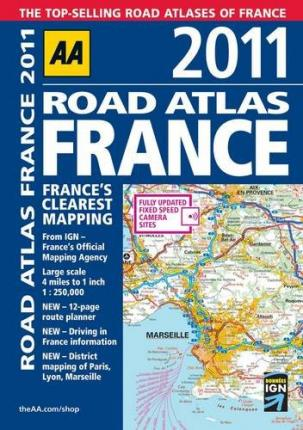 AA Road Atlas France 2011