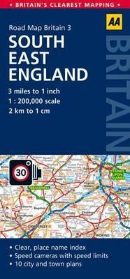 Map Of S England.South East England Road Map Aa Publishing 9780749577124