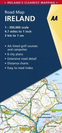 Detailed Road Map Of Ireland.Aa Road Map Ireland Aa Publishing 9780749578770