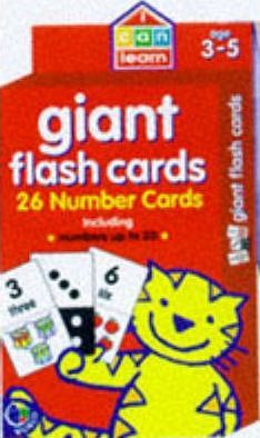Giant Number Cards: Age 3-5