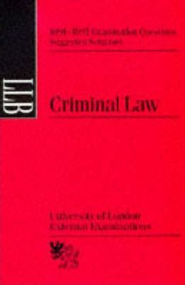Criminal Law: Suggested Solutions, June 1991-95
