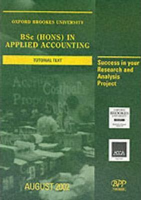 Acca: Bsc (Hons) in Applied Accounting: Oxford Brookes Project Book