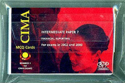 Cima Paper 7 Intermediate Stage Financial Reporting (Ifrp) Mcq Cards (2002)