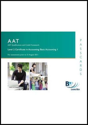 AAT - Basic Accounting I  Passcards