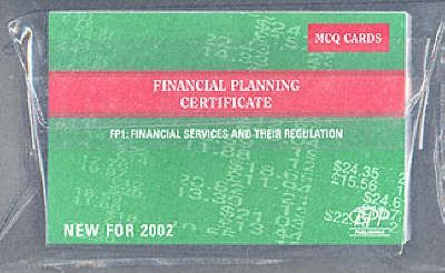 Fpc Fp1: Financial Services and Their Regulations: Mcq Cards (2002)