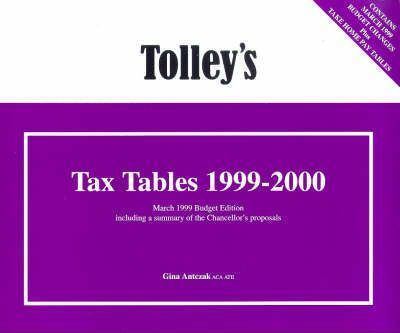 Tolley's Tax Tables 1999-2000