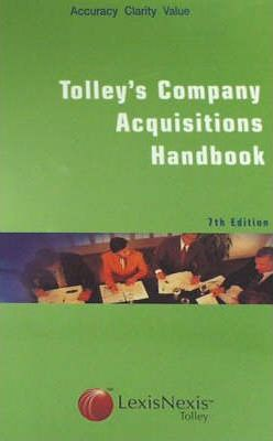 Tolley's Company Acquisitions Handbook