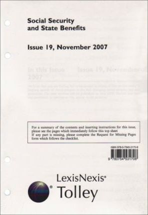 Social Security and State Benefits, Issue 19, November 2007