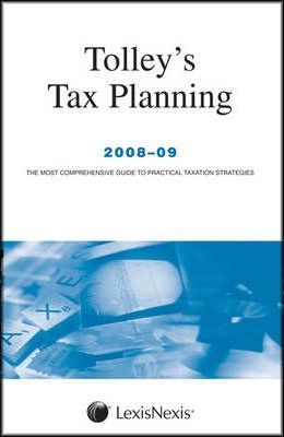 Tolley's Tax Planning 2008-09