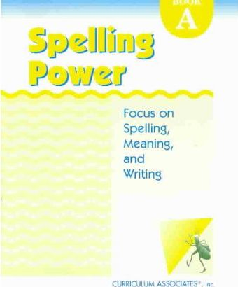 Spelling Power Book A