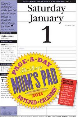 Busy Mum's Page-A-Day Notepad and Calendar 2011