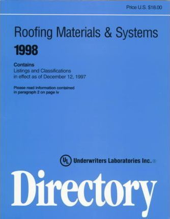 Roofing Materials and Systems Directory 1998