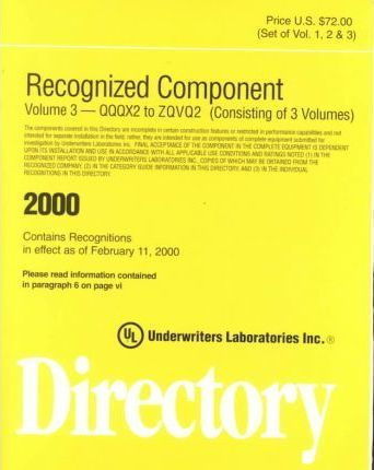 Recognized Component Directory 2000