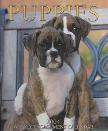 Puppies Hardcover Weekly Engagement Calendar: 2004