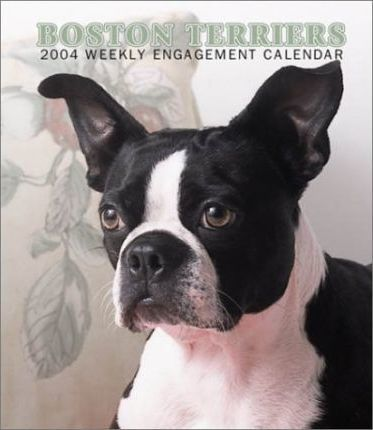 Boston Terriers Hardcover Weekly Engagement Calendar: 2004