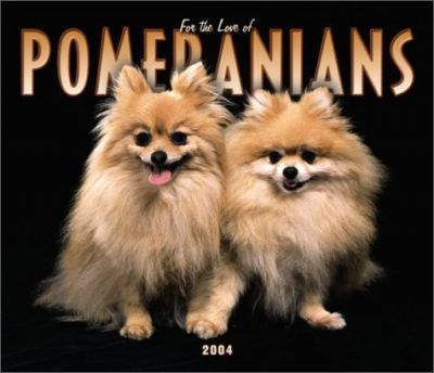 For the Love of Pomeranians Deluxe Wall Calendar: 2004