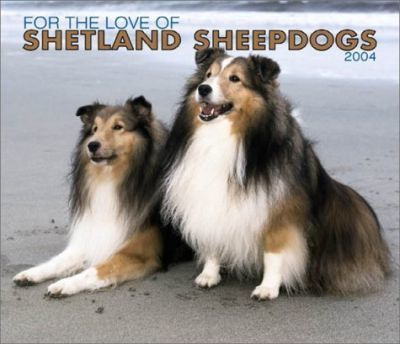 For the Love of Shetland Sheepdogs Deluxe Wall Calendar: 2004