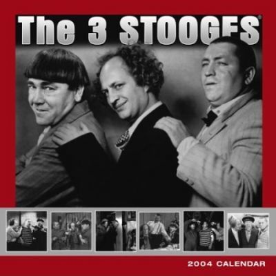 The Three Stooges Deluxe Wall Calendar: 2004