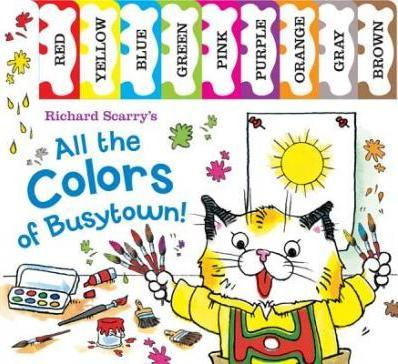 Richard scarry 39 s all the colors of busytown richard for Richard scarry coloring pages