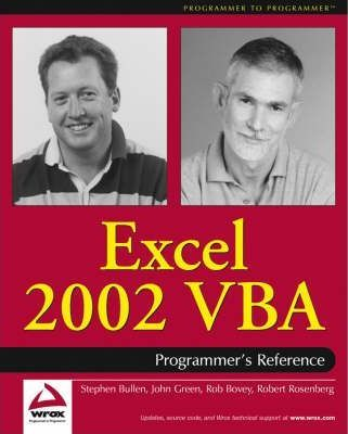 Excel 2002 VBA Programmer's Reference