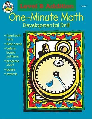 One-Minute Math, Level B Addition, Sums 11-18