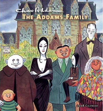 Chas Addams The Addams Family 2008 Calendar