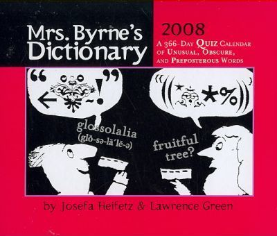 Mrs. Byrne's Dictionary 2008 Calendar