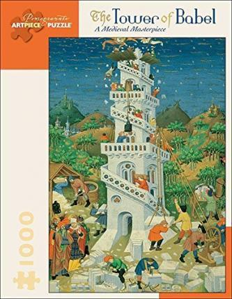 The Tower of Babel a Medieval Masterpiece 1000-Piece Jigsaw Puzzle Aa575