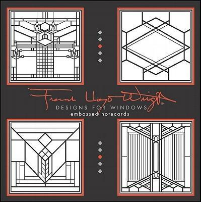 Frank Lloyd Wright Designs for Windows Embossed Notecards