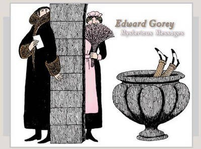 Edward Gorey Mysterious Messages Boxed Notecards 0335