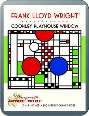 Frank Lloyd Wright/Coonley Window 100 Piece Tin Puzzle