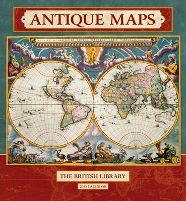 2015 antique maps wall calendar british library 9780764966804 2015 antique maps wall calendar gumiabroncs