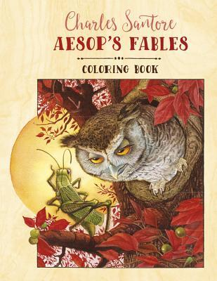 Charles Santore Aesop's Fables Coloring Book Cb179
