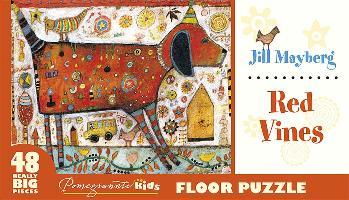 Jill Mayberg Red Vines Floor Puzzle Fp004