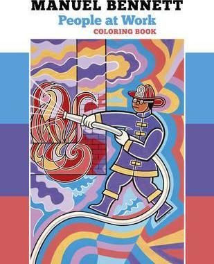 Manuel Bennett People at Work Coloring Book Cb190