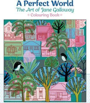 A Perfect World the Art of Jane Galloway Coloring Book Cb184