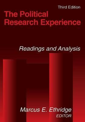 The Political Research Experience: Readings and Analysis