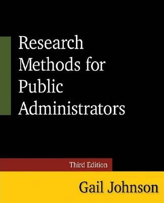 Research Methods for Public Administrators 2014
