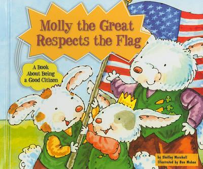 Molly the Great Respects the Flag