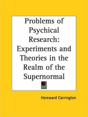 Problems of Psychical Research