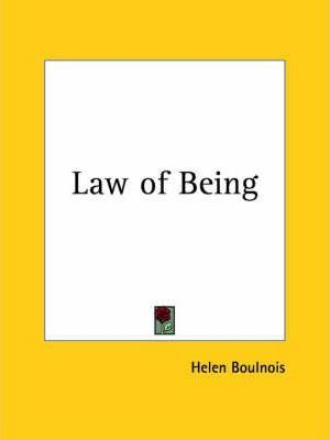Law of Being (1920)