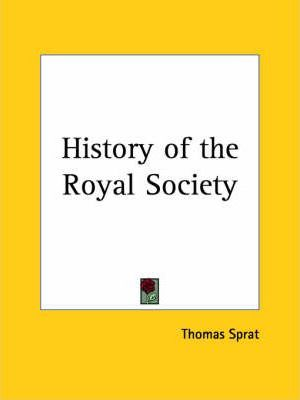 History of the Royal Society (1667)