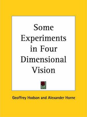 Some Experiments in Four Dimensional Vision (1933)